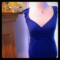 Royal Blue summer dress So cute and comfortable for summer. Like new, no rips tears or stains. Sz s but has some stretch Allen B Dresses