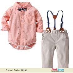 Pink Silhouette Deer Childrens Fashion Adjustable Y-Type Suspension Belt Suit