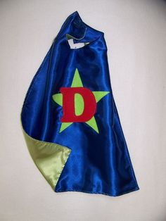 40 OFF DoubleSided TODDLER Cape Blue front by CupcakeCutieKids, $14.99