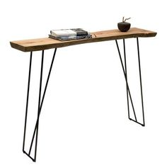 Old Times Console Natural wood / Black leg by Zeus