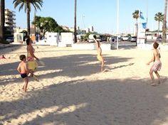 playing beach ball aka binki-bonk