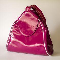 Transformer Handbag into Backpack Pink Leather Pink Leather, Wood Crafts, Sunglasses Case, Backpacks, Handmade, Fashion, Hand Made, Moda, Fashion Styles