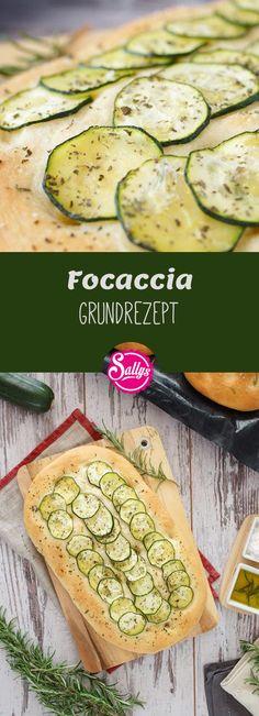 Focaccia ist ein Fladenbrot, welches vor dem Backen mit Olivenöl bestrichen und mit Salz und Rosmarin bestreut wird. Hier habe ich ein Grundrezept und eine Variation mit Zucchini.