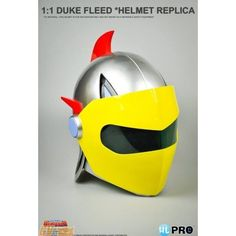 UFO Robot Goldorak: Duke Fleed (Actarus) 1:1 Scale Yellow Helmet lifesize #HighDream
