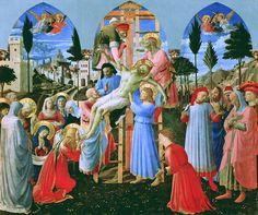 師の未完成作品を引き継いで完成させた『十字架降架』(1432年 - 1434年) サン・マルコ美術館(フィレンツェ)