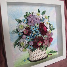 Original Paper Quilling Wall Art Basket от MagicQuillingStrips