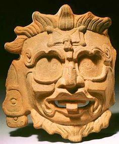 Kinich Ajau, sun god, in 22 ruler's tomb, from Tikal