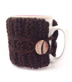 Coffee Mug Cozy by LaceyDaisyKnits on Etsy
