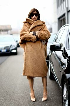 FALL 14 MOST WANTED- MAX MARA TEDDY BEAR COAT, Carine Roitfeld.