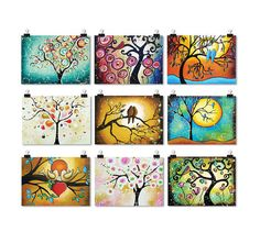 Tree of Life ACEO Giclee Prints  Whimsical Art  por hjmArtGallery, $29.99
