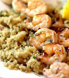 Salad Bar, Quinoa, Cauliflower, Shrimp, Salads, Pasta, Diet, Vegetables, Breakfast