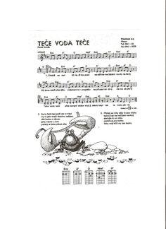 Pavel Novák Teče voda Kids Songs, Words, Projects, Songs For Children, Nursery Songs, Children Songs, Horse