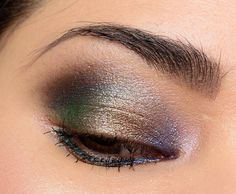 Here's (half) a look using Urban Decay's new Moondust palette and Anastasia's Moonchild palette.