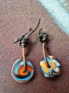 New Mexico Sky Earrings by TeaStainedBeads on Etsy, $20.00