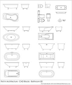 Free Kitchen Cad Blocks Pomoce Projektowe Pinterest - Bathroom cad blocks