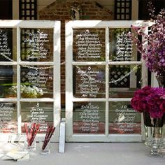 Not that id ever have a sit down wedding but cute seating plan ideas
