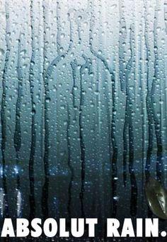 Rain on a window. Ad by Creative Design. www.creativedesign.co.il/absolut/