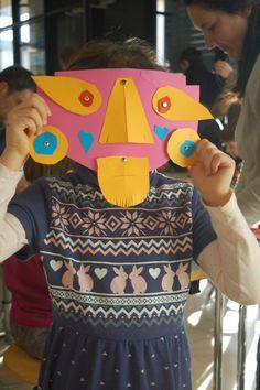 """""""Maschere precolombiane"""", Little Mart, Carnevale 2015 www.mart.trento.it/educazione"""