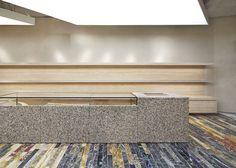 Céline Concept Store, Mount Street by Casper Mueller Kneer Architects Celine, Custom Furniture, Furniture Design, Gold Floor Lamp, Steel Beams, Steel Table, Iron Doors, Interior Design Studio, Retail Design