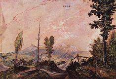 Wolf Huber (Autrichien, v. 1485-1553), Paysage préalpin, 1532, aquarelle, 21 × 37 cm, Berlin, Kupferstichkabinett, Staatliche Museen