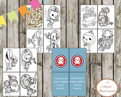 Octonauts Mini Color in book, Print your own color in book, perfect thank you gift for birthdays by 3AngelsInspirations on Etsy https://www.etsy.com/listing/216899560/octonauts-mini-color-in-book-print-your