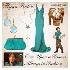 """Disney Style: Flynn Rider"" by trulygirlygirl ❤ liked on Polyvore featuring mode, Roberto Cavalli, Donna Karan, Christian Louboutin, Julie Wolfe, Stella & Dot, disney, tangled et flynn rider"