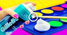 12 COOL AND SIMPLE DRAWING TRICKS FOR KIDS #craft Drawing For Kids, Painting For Kids, Diy Painting, Easy Crafts For Kids, Diy For Kids, Drawing Tricks, Drawing Ideas, Shaving Cream Painting, Making Fluffy Slime