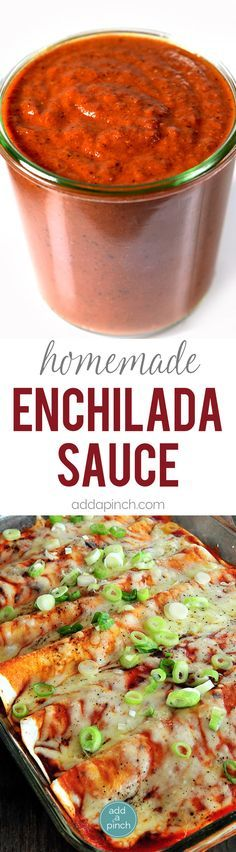 Enchilada Sauce Recipe - Enchilada Sauce makes a staple ingredient to keep on hand for quick meals. Get this family-favorite easy homemade enchilada sauce recipe. // addapinch.com