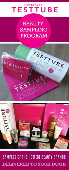 Receive Samples of the hottest new beauty products with the TestTube beauty sampling program. Try Samples of the Latest Makeup and Skincare Products, Delivered to Your Door. Apply now to get your samples in the mail.