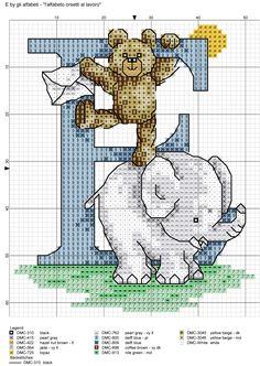 alfabeto orsetti al lavoro: E