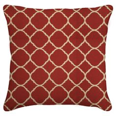 Easy Way 20 x 20 in. Accord II Crimson Print Single Piped Edge Sunbrella Outdoor Pillow | from hayneedle.com