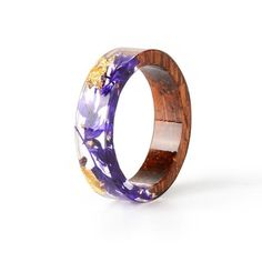 Resin Ring, Resin Jewelry, Jewelry Rings, Etsy Jewelry, Diy Rings, Jewelry Shop, Magic Flower, E 7, Gold Foil Paper