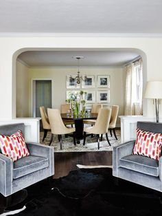 Spunky and creative designer Sarah Richardson can see the potential in the even the most desolate homes. Get inspired by her unbelievable living and dining room makeovers from season one of HGTV's Sarah Sees Potential.