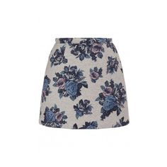 MSGM ($98) ❤ liked on Polyvore featuring skirts, mini skirts, grey, floral print mini skirt, short skirts, gray skirt, grey skirt and short floral skirt
