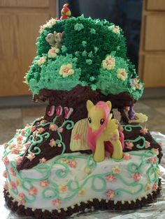 Sweet Pea's My Little Pony birthday cake, Fluttershy's Nursery Tree