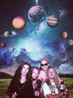Sean Kinney Layne Staley Mike Starr Jerry Cantrell Alice in Chains In space Mike Starr, Jerry Cantrell, Mad Season, Layne Staley, Alice In Chains, Seasons, Artwork, Grunge, Saints
