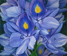 Water Hyacinth  30 x 36 inches  © 2010  watercolor by Karen Sioson