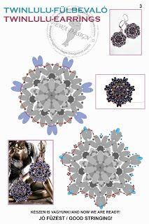 Ewa beaded World: Twinlulu pattern earrings / earrings pattern Twinlulu