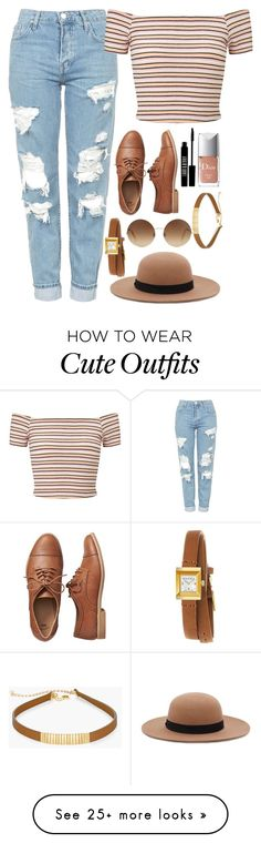 """""""Cute Outfit"""" by fangirlstilinski on Polyvore featuring Topshop, Miss Selfridge, Forever 21, Victoria Beckham, Gap, Gucci, Lord & Berry, Christian Dior and Chico's"""
