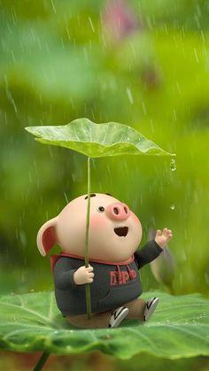 (notitle) - Little pig - Pig Wallpaper, Disney Wallpaper, Mobile Wallpaper, Pastel Wallpaper, Nature Wallpaper, Wallpaper Backgrounds, Fimo Kawaii, Cute Piglets, Pig Illustration