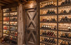 The article talks about the effectiveness of a large-format wine Cellar. It shows 3 points which make a large-format wine cellar a great choice for wine storage. Small Wine Racks, Rustic Wine Racks, French Wine, Rustic French, Rustic Italian, French Country, Wine Shelves, Wine Storage, Storage Racks