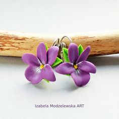 Flower Earrings, Facebook Sign Up, Spring Flowers, Wire Wrapping, Polymer Clay, Handmade Jewelry, Art, Kunst, Diy Jewelry