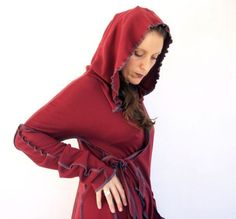 edgy red hoodie
