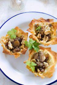Tartaletas de champiñón y sepia ¦ Mushrooms and cuttlefish tartlets