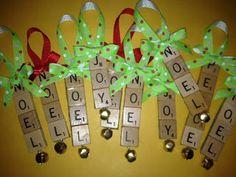Cute Scrabble Tile Ornaments