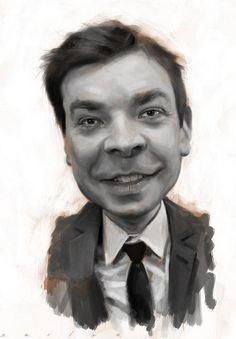Jimmy Fallon /  My Absolute Fav! Mover & a Shaker you go Yimmy!!     Artist: Jason Seiler    website: http://www.jasonseiler.com/index.php