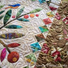 """Home Sweet Home""with ""Jellybean"" fabrics. Special thank you to Julie Lillo for the amazing quilting on it."