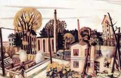 Landscape near Frankfurt am Main Artwork by Max Beckmann Hand-painted and Art Prints on canvas for sale,you can custom the size and frame