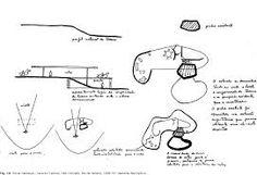 """Bocetos Planos """"Das Canoas"""", Casa Familiar del Arq. Oscar Niemeyer. Río de Janeiro, Brasil / 1950-53."""