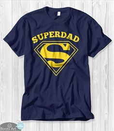 Father Gift for Dad Super dad Shirt Dad Gift for Him от BootsArt